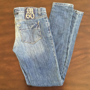 Miss Sixty Judy Distressed Light Wash Skinny Jeans